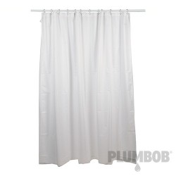 White Polyester Shower Curtain - 1800 x 1800mm