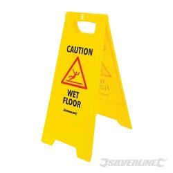 'A' Frame Caution Wet Floor Sign - 295 x 610mm English