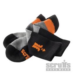 Trade Socks Black 3pk - Size 10 - 13 / 44 - 48