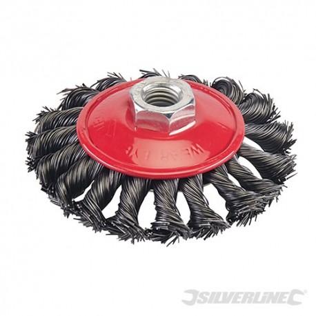 Steel Twist-Knot Brush - 100mm