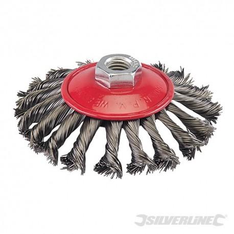Steel Twist-Knot Brush - 115mm
