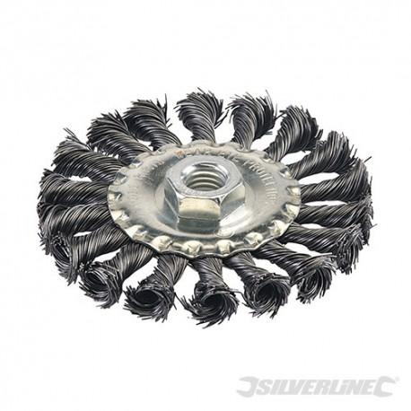 Steel Twist-Knot Wheel - 100mm