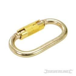 Auto-Locking Oval Karabiner - 21mm Gate