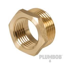 "Brass Hexagon Bush - 3/4"" (Male) x 1/2"" (Female)"
