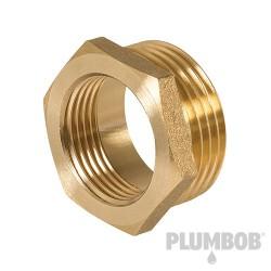 "Brass Hexagon Bush - 1"" (Male) x 3/4"" (Female)"