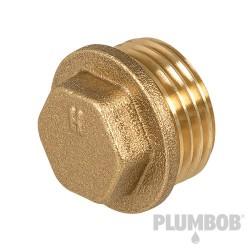 Brass Flanged Plug - 1/2 (male)
