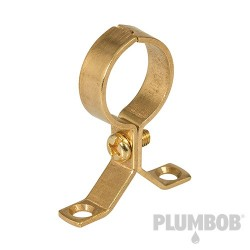 Brass Pipe Bracket - 5pk 22mm