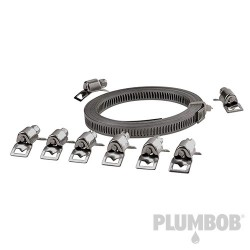 Cut-To-Size Stainless Steel Hose Clamp Set 9pce - 9pce