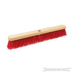 "Heavy Duty PVC Broom - Head 600mm (24"") / Socket 23mm (15/16)"