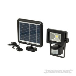COB LED Solar-Powered PIR Floodlight - 3W PIR