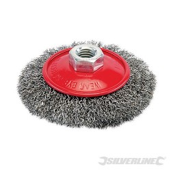 Steel Crimp Bevel Brush - 100mm