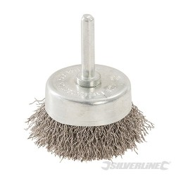 Rotary Stainless Steel Wire Cup Brush - 50mm