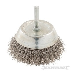 Rotary Stainless Steel Wire Cup Brush - 75mm