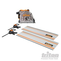 TRITON 185MM TRACK SAW KIT 1400W - TTS185KITEU