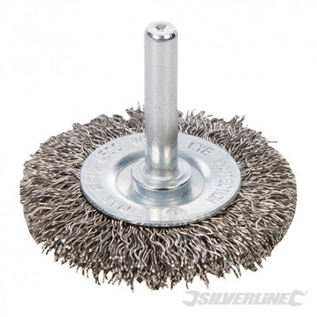 Rotary Stainless Steel Wire Wheel Brush - 50mm