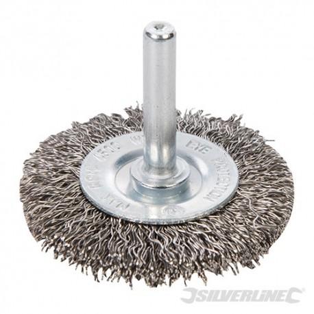 Szczotka doczolowa z drutu falistego ze stali nierdzewnej - 50 mm
