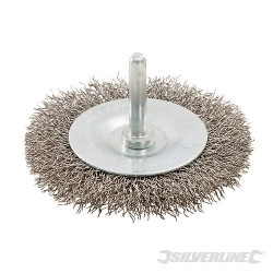 Rotary Stainless Steel Wire Wheel Brush - 75mm