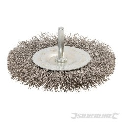 Rotary Stainless Steel Wire Wheel Brush - 100mm