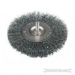 Szczotka tarczowa z drutem falistym - 75 mm