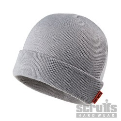 Knitted Thinsulate Beanie Grey - One Size