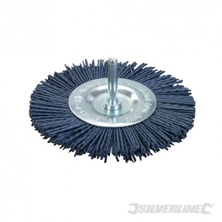 Szczotka tarczowa z nylonu sciernego - Miekka 100 mm
