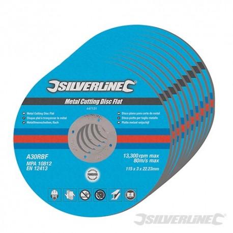 Metal Cutting Discs Flat 10pk - 115 x 3 x 22.23mm
