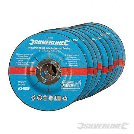 Odgiete tarcze do szlifowania metalu, 10 szt. - 115 x 6 x 22,2 mm