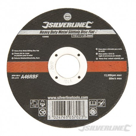 Heavy Duty Metal Slitting Disc Flat - 115 x 1 x 22.23mm