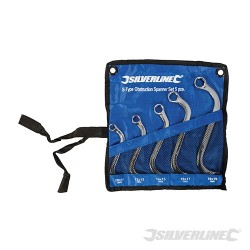 S-Type Obstruction Spanner Set 5pce - 10 - 19mm