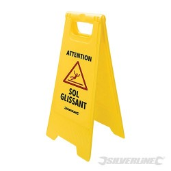 A Frame Caution Wet Floor Sign - 295 x 610mm French