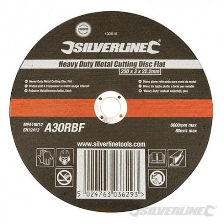 Silverline Výkonný řezný kotouč na kov, plochý - 230 x 3 x 22.23mm 103616 5024763036293