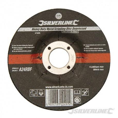 Heavy Duty Metal Grinding Disc Depressed - 115 x 6 x 22.23mm