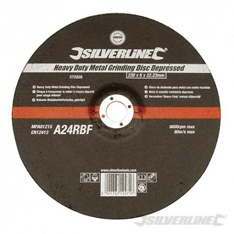 Heavy Duty Metal Grinding Disc Depressed - 230 x 6 x 22.23mm