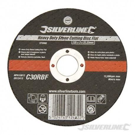 Heavy Duty Stone Cutting Disc Flat - 125 x 3 x 22.23mm