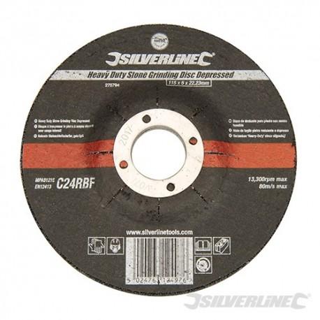 Heavy Duty Stone Grinding Disc Depressed - 115 x 6 x 22.23mm