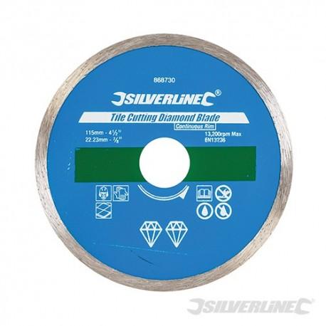 Tile Cutting Diamond Blade - 115 x 22.23mm Continuous Rim